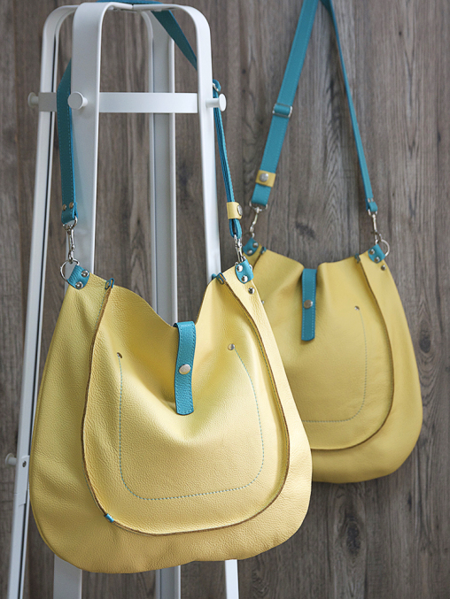 yellow leather hobo bag grishina 00