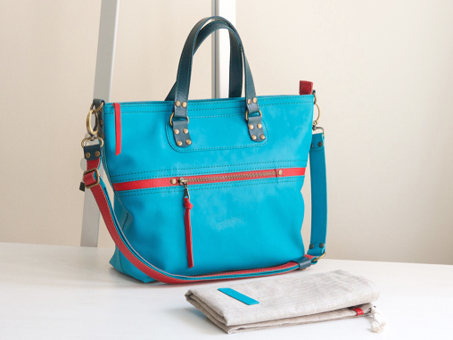 blue leather tote bag grishina 10